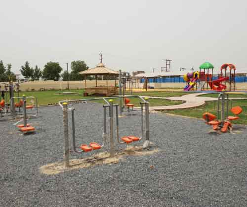 Open Park Exercise Equipment